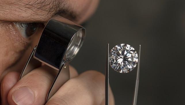 polished diamond loupe