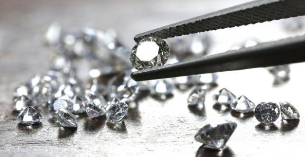 white polished cut diamonds
