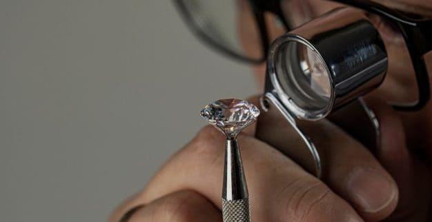 polished diamonds loupe