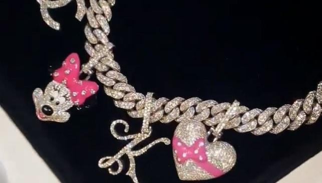 cardy b Kulture diamond necklace