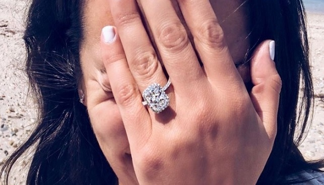 lea michele engagement ring