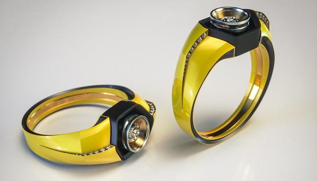 Lamborghini diamond engagement ring