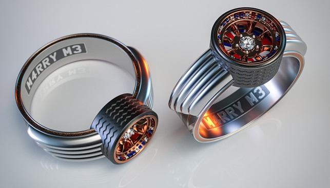 mini cooper diamond engagement ring